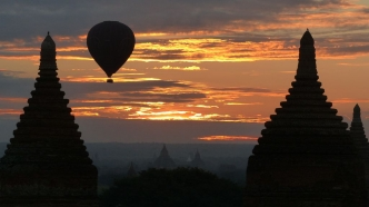 Vue depuis le Buledi temple - Bagan