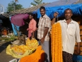 Calcutta - le marché aux fleurs