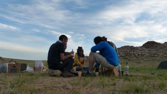 Désert de Gobi - on joue au Durak