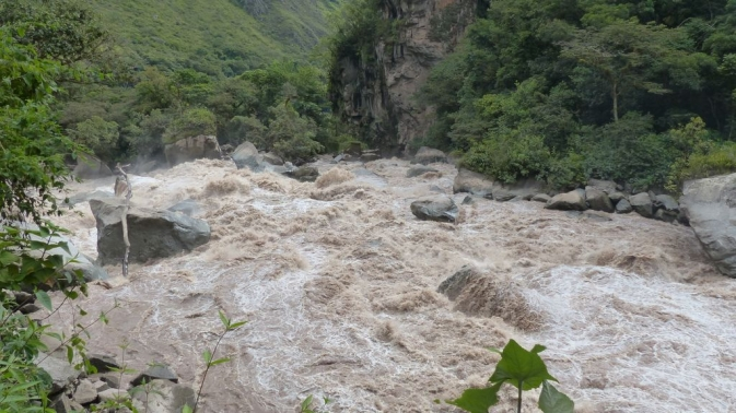 trajet Hydro Electrica - Agua Calientes