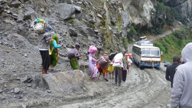 En route vers Pokhara